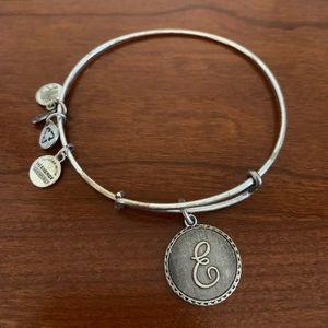 "Alex & Ani ""E"" Bracelet"